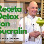 Receta de Xavier Lahuerta para MadeinSpain.store: Jugo detox de naranja con apio, perejil, Aloe vera, cúrcuma y Sucralin líquido