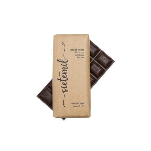 Sietemil chocolate negro 65% con Aceite de Oliva Virgen Extra